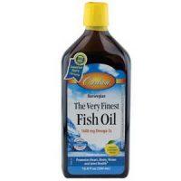 Carlson Labs Very Finest Liquid Fish Oil 16.9 Fl. Oz. Lemon Frustration Free Packagin